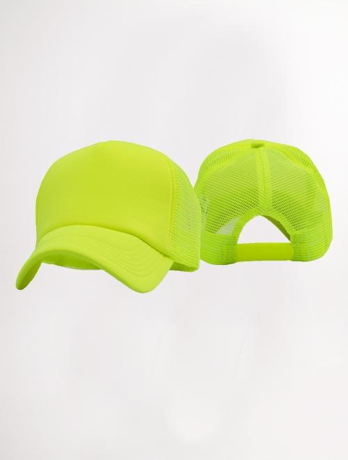 Gorra bondeada lisa-amarillo neon